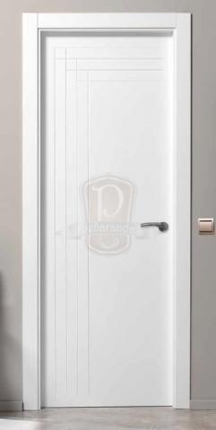 Puerta moderna lacada puertas y ventanas pe aranda for Puertas interiores blancas modernas
