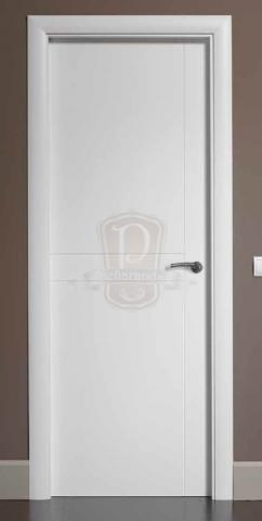 Puerta moderna lacada puertas y ventanas pe aranda - Puertas lisas blancas ...