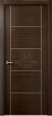 Puerta moderna wengue puertas pe aranda for Modelos de puertas de interior modernas