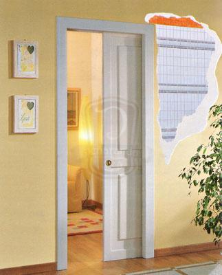 Puerta corredera oculta puertas y ventanas pe aranda - Puertas correderas empotradas en tabique ...